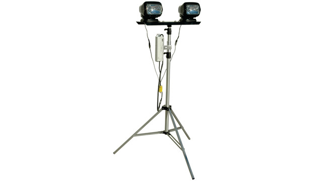 Portable Light Tower with Remote Control Operation, No. WAL-TP-2XGLM-H-1227