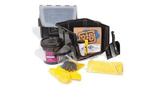 PIG Battery Acid Spill Kit in See-Thru Bin