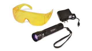 400 NM True UV Rechargeable Flashlight, No. ECFUVLEDA