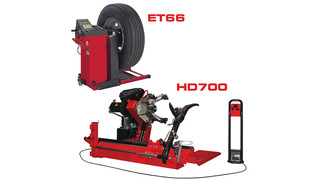 Corghi HD700 Tire Changer and ET66 Wheel Balancer