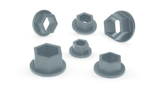 6-Piece Non-Marring Metric Socket Inserts, No. PSCM600