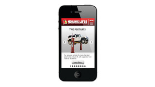 Mobile Version of the Mohawk Lifts website