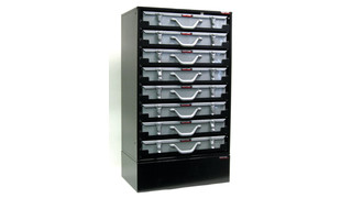 8 drawer service tray rack cabinet