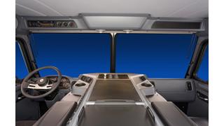 Peterbilt's low-cab forward Model 320 ergonomic interior unveiled