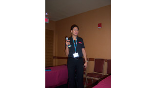 Makita rep explains changing cordless tool technology at Ace Tool dealer expo