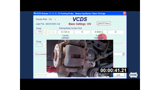 Using the VCDS from Ross Tech to retract electric parking brakes video