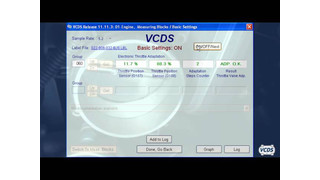 Doing throttle body relearn with Ross Tech VCDS video