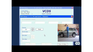 Suspension leveling calibration with Ross Tech VCDS video