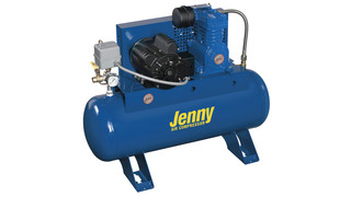 Electric Single-Stage, Horizontal-Tank Stationary Air Compressors