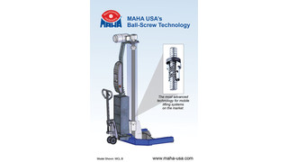 Tech Tip: Benefits to having ball-screw technology on lifting devices