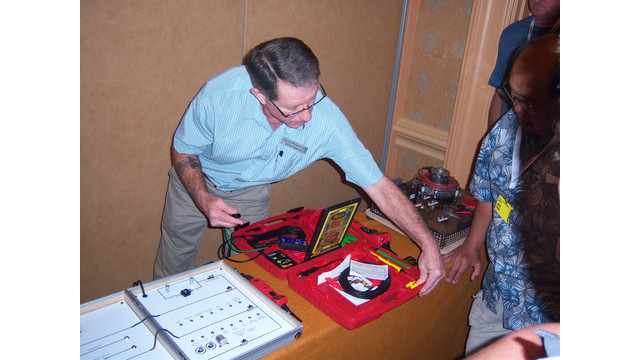 Jaime Lazarus demonstrates Power Probe products at ISN Tool Dealer Expo