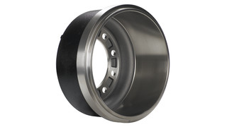 Silver lightweight brake drum