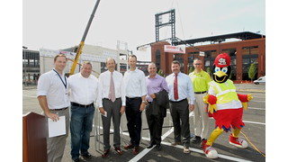 Wolverine partners with St. Louis' ballpark village, celebrate at topping off ceremony