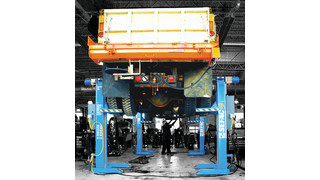 Line of Mobile Column Lifts