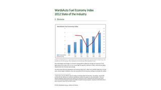 WardsAuto Fuel Economy Index: 2012 State of the Industry