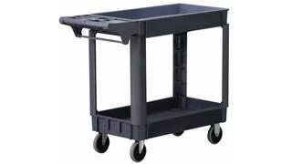 Industrial Heavy Duty Plastic Two Shelf Utility Cart, Nos. 8337 & 8338