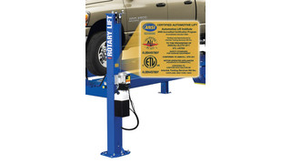 Rotary Lift vehicle lifts recertified to new standard