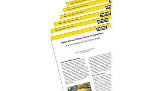 Piston versus rotary screw compressors: A short comparison for the collision market