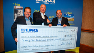 LKQ Corp. donates $25,000 to Collision Education Repair Foundation