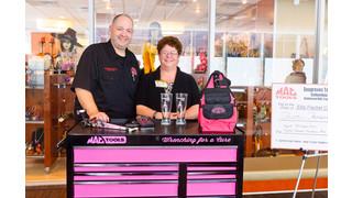 Distributor awards toolbox in cancer awareness benefit