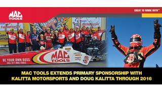 Mac Tools extends partnership with Kalitta Motorsports and Doug Kalitta