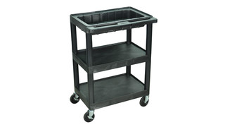 3-Shelf Cart Optional Dividers & Locking Lid, No. MTC25/N-B