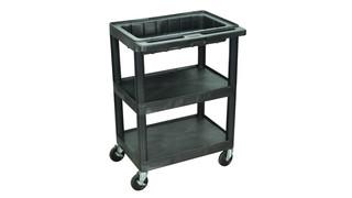 3-Shelf Cart Optional Dividers & Locking Lid, No. MTC25/N-B