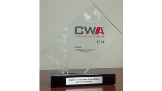 Detroit Virtual Technician receives 2014 Connected World Conference award for problem-solving technology