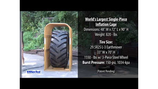 Ken-Tool's Earthmover Tire Inflation Cage Video