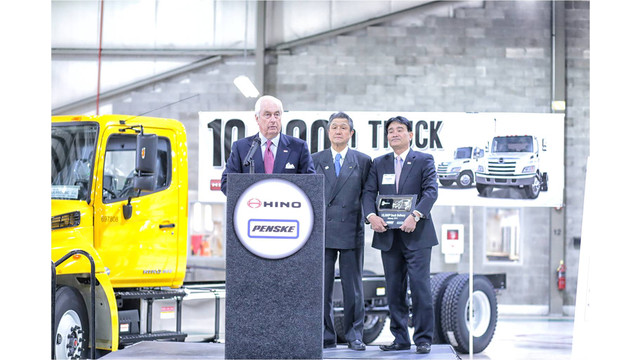 Hino Trucks delivers 10,000th truck to Penske Truck Leasing