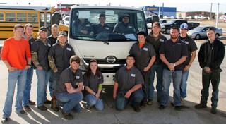 Hino Trucks donates vehicle to CV Technology Center to rebuild program after tornado