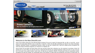 Direct Lift upgrades its website