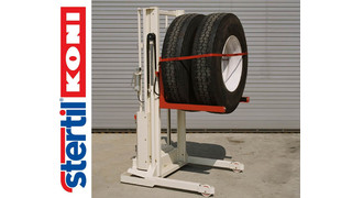 Stertil-Koni high lift wheel dolly reduces shop injuries and increases alignment precision