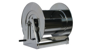 Stainless Steel 1 Hand Crank Hose Reel, No. HS37000 L
