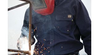 Shirts have flame-resistant fabric