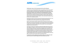 AHRI reports contaminated R-134a; notes hazards