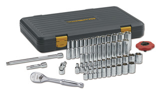 51 Pc. 1/4 Drive 12XP SAE/Metric 6 Point Standard & Deep Socket Set, No. 80300P
