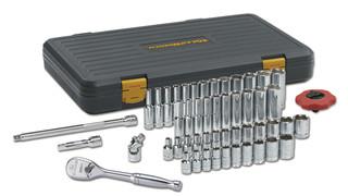 51 Pc. 1/4 Drive 12XP SAE/Metric 6 Point Standard & Deep Socket Set, No. 80300P