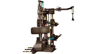 Hofmann monty 8600 tire changer lessens fatigue, aids safety