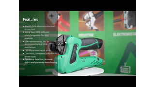 Rennsteig's eForce battery-powered crimping tool Video