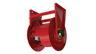 Reelcraft reels store large diameter exhaust hoses