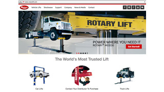 Rotary Lift upgrades its website