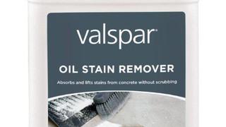 Valspar oil stain remover keeps floor clean