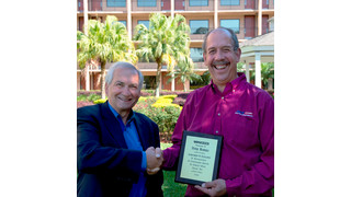 "Stertil-Koni honors Peter Bowers with ""Achievement of Excellence"" Award"