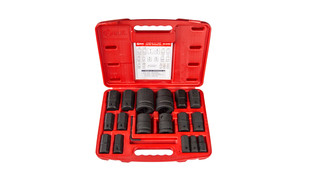 18-pc 3/4 and 1 Drive SAE Hex Bit Socket Set, No. BS-6818H