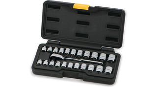 23-pc 1/4 Drive SAE/MM Low-Profile Socket Set