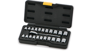 23-pc 1/4 Drive SAE/MM Low-Profile Socket Set