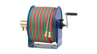 100W Series compact hand crank welding hose reels