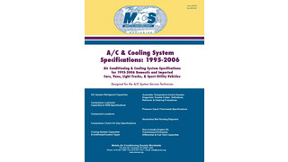 A/C ' Cooling System Specification Reference