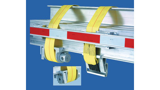 aluminum winch strap capture system for flatbed trailers
